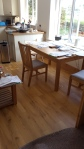 The refit is nearly finsihed. A new dining table.